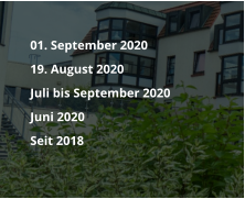 01. September 2020  	19. August 2020  	Juli bis September 2020 	Juni 2020  	Seit 2018